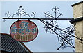 TM3389 : Sign for the Three Tuns public house, Bungay by JThomas