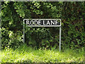 TM1093 : Rode Lane sign by Adrian Cable