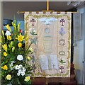SD3439 : St Chad's Baptismal Banner by Gerald England