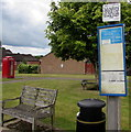 SO5715 : Dog fouling penalty notice at the edge of the village green,  English Bicknor by Jaggery