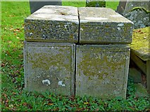 SK7431 : Chest tombs, Harby Churchyard by Alan Murray-Rust