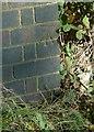 SK7631 : Bench mark, Harby Lane railway bridge, Stathern by Alan Murray-Rust