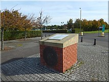 NS2875 : Cairn at former site of Scotts' shipyard by Lairich Rig