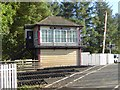 NY5048 : Signal box at Low House level crossing by Oliver Dixon