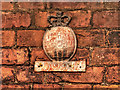 SJ9097 : Firemark on House in Fairfield Square by David Dixon