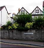 SJ6552 : Swine Market name sign, Nantwich by Jaggery