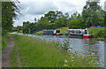 SD5010 : Narrowboats moored along the Leeds and Liverpool Canal by Mat Fascione