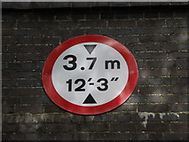 TG0723 : Roadsign on Marriott's Way Bridge by Adrian Cable