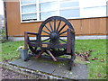 SJ8253 : Talke: memorial seat in St Martin's graveyard by Jonathan Hutchins