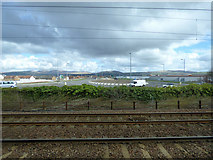 NS3174 : Road and rail at Port Glasgow by Thomas Nugent