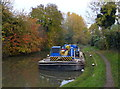 SP5798 : Barge moored along the Grand Union Canal by Mat Fascione