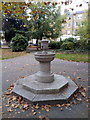 TQ3585 : Drinking Fountain in Clapton Square by PAUL FARMER