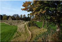 SK8608 : Inner bailey earthworks at Oakham Castle by Mat Fascione