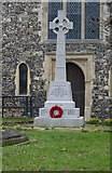 TR1458 : War memorial, Church of St Dunstan's Without the West Bar by N Chadwick