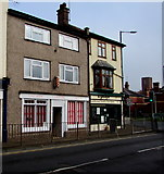 SO5139 : Barbers, hairdressers and butchers, St Owen Street, Hereford by Jaggery