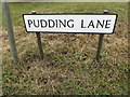 TL9419 : Pudding Lane sign by Adrian Cable