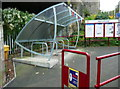 SE0125 : Cycle shelter at Mytholmroyd station by Humphrey Bolton