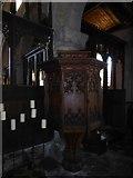 TF5617 : Tilney All Saints Parish Church: pulpit by Basher Eyre
