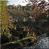 SK2572 : Baslow: a view from the bridge at Nether End by John Sutton