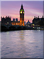 TQ3079 : Westminster Bridge and Big Ben at Sunset by David Dixon