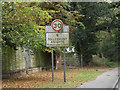 TL9015 : Tolleshunt Knights Village Name sign by Adrian Cable