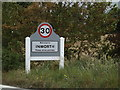 TL8817 : Inworth Village Name sign on the B1023 Kelvedon Road by Adrian Cable