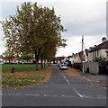 SO8316 : Fallen leaves, Lannett Road, Gloucester by Jaggery