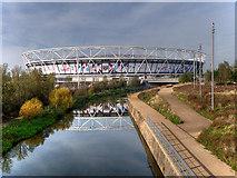 TQ3783 : City Mill River and London Stadium by David Dixon