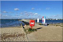 SZ1891 : Ferry pier, Hengistbury Head by Robin Webster