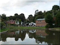 SJ6374 : Canalside business, Barnton by Christine Johnstone