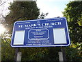 SJ8746 : Shelton: St Mark's Church notice board by Jonathan Hutchins