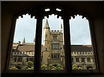 SP5206 : Founders Tower in Magdalen College by Steve Daniels