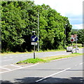ST2583 : Dual carriageway sign and Your Speed indicator, Castleton by Jaggery