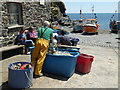 SW7214 : Cadgwith Cove - fishermen by Chris Allen