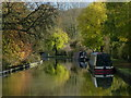 SK3706 : Narrowboats moored along the Ashby Canal by Mat Fascione