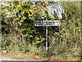 TL1614 : Signpost on the B653 Lower Luton Road by Geographer
