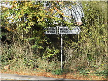 TL1614 : Signpost on the B653 Lower Luton Road by Adrian Cable