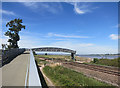 SX9784 : New Cycleway Bridge over the Railway by Des Blenkinsopp