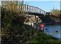 SK3903 : Footbridge across the entrance to Bosworth Marina by Mat Fascione