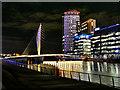 SJ8097 : Footbridge to MediaCity by David Dixon