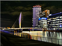 SJ8097 : Footbridge to MediaCity by David Dixon