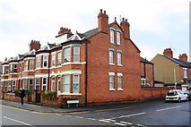 SK5319 : Houses of Frederick Street at Curzon Street junction by Roger Templeman