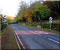 ST5399 : End of the 30 zone through Tintern by Jaggery