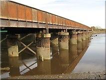 SH9980 : Foryd railway bridge by Jonathan Wilkins