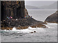 NM3234 : Causeway at the Southern Tip of Staffa by David Dixon