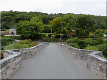 SJ1143 : Pont Carrog across the River Dee, Denbighshire by Roger  Kidd