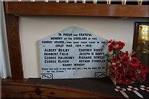 TA0432 : War Memorial in Cottingham Methodist Church by Ian S