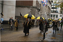 TQ3281 : View of the Worshipful Company of Blacksmiths in the Lord Mayor's Parade from Gresham Street #3 by Robert Lamb