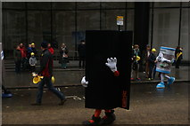TQ3281 : View of a sheet of steel in the Lord Mayor's Parade from Gresham Street by Robert Lamb