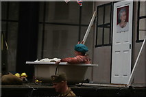TQ3281 : View of a man in a bathtub in the Lord Mayor's Parade on Gresham Street by Robert Lamb
